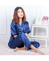 QA-595 SATIN NIGHT WEAR SET BLUE