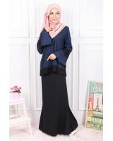 QA-596 CLASSIC LACE BLOUSE NAVY BLUE