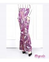 QA-622 PRINTED MERMAID MAXI SKIRT MAGENTA