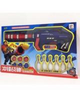 (BLUE)Jia Yi Toy Shooting Gun With 6 Ball And 6 Bowling