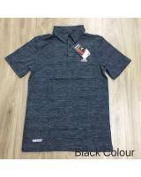 (BLACK M)Adidas Sport Wear Men Polo Tee Style(Ready Stock)