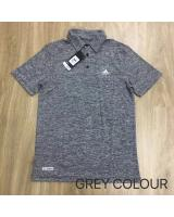 (GREY XL)Adidas Sport Wear Men Polo Tee Style(Ready Stock)