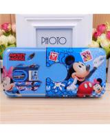 (MICKEY MOUSE)Cartoon Double Layer Iron Box Stationery Pencil Box(Include Stationery)