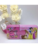 (PRINCESS)Cartoon Double Layer Iron Box Stationery Pencil Box(Include Stationery)