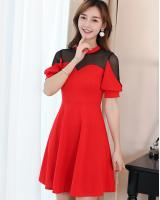 WD7705 Korean Fashion Dress Red