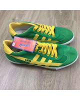 (GREEN/YELLOW42)LEO Model F70S Futsal Shoe Made In Thailand(Ready Stock)
