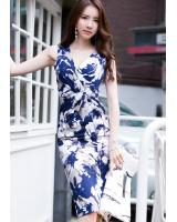 BM71166 SEXY FLORAL DRESS AS PICTURE