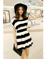 BM71178 STRIPED DRESS AS PICTURE
