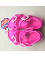 (PINK)Unisex Thailand Red Apple Double Straps Kids Sandals Shoes BG2566