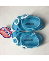 (BLUE)Unisex Thailand Red Apple Double Straps Kids Sandals Shoes BG2566