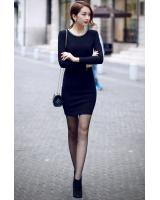 BM71210 GLITTER CASUAL DRESS AS PICTURE