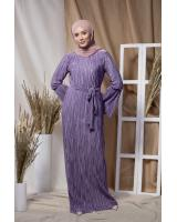 BM71219 PLEATED DRESS LAVENDER