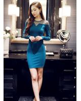 BM71220 ELEGANT KOREAN DRESS TURQUOISE