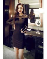 BM71220 ELEGANT KOREAN DRESS BLACK