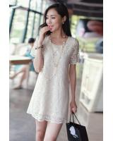 BM71221 CASUAL DRESS ALMOND