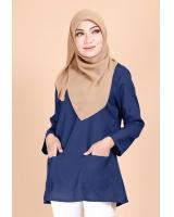 QA-692 BASIC WOMEN'S BLOUSE NAVY BLUE