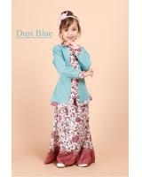 QA-698 KIDS KEBAYA SET DUST BLUE