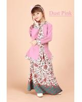 QA-698 KIDS KEBAYA SET DUST PINK