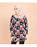 QA-700 FLORAL BATIK BLOUSE AS PICTURE