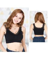 QA-702 LACE BRALETTE BLACK