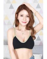 QA-703 TWO TONE BRALETTE BLACK