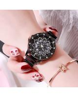 KW80701 ROUND FLOWER WATCHES BLACK