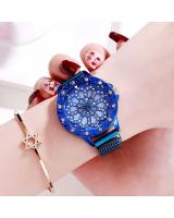 KW80701 ROUND FLOWER WATCHES BLUE