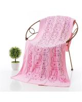 KW80710 CUTE TEDDY TOWEL PINK
