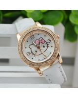 KW80717 CUTE KITTY WATCHES WHITE
