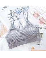 QA-768 WOMEN'S TUBE BRA GREY