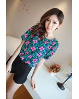 BM71255 CASUAL PRINTED TOP AS PICTURE