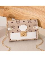 KW80728 TRENDY FASHION BAG WHITE GREY