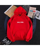 KW80730 OH YES HOODIE RED