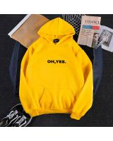 KW80730 OH YES HOODIE YELLOW