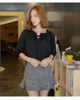 BM71272 SEXY KOREAN TOP BLACK