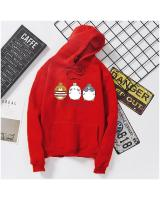 KW80735 CUTE WOMEN'S HOODIE RED