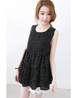 BM71277 KOREAN FASHION BLOUSE BLACK