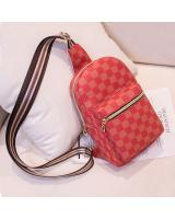 KW80777 Women's Checker Chest Bag Red