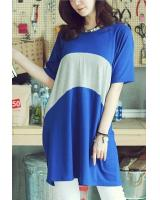 BM71325 Korean Casual Top Blue