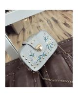 KW80812 Embroidery Women's Sling Bag Cream