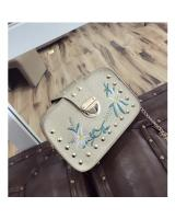 KW80812 Embroidery Women's Sling Bag Gold