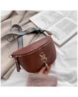 KW80822 SS Chest Sling Bag Dark Brown