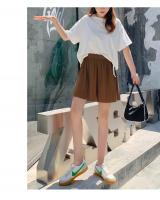 QA-804 PLEATED WIDE SHORTS PANTS BROWN