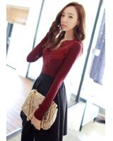BM71343 Lace Top Red