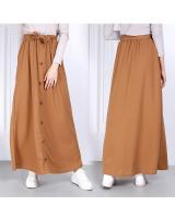QA-814 A LINE BUTTON SKIRT AS PICTURE