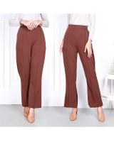 QA-818 BOOTCUT PANTS BROWN