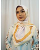 SW5435 Printed (IRONLESS) Chiffon Scarf Yellow