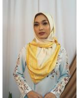 SW5436 Floral Printed (IRONLESS) Scarf Yellow