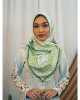 SW5436 Floral Printed (IRONLESS) Scarf Green