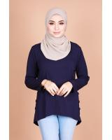 QA-820 LOW BASIC BLOUSE NAVY BLUE